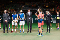 ABN AMRO World Tennis Tournament, Rotterdam, The Netherlands, 19 Februari, 2017, Matwe Middelkoop (NED), Wesley Koolhof (NED), Ivan Dodig (CRO), Marcel Granollers (ESP)<br /> Photo: Henk Koster