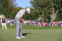 Henrik Stenson (Team Europe) on the 11th  during Saturday afternoon Fourball at the Ryder Cup, Hazeltine National Golf Club, Chaska, Minnesota, USA.  01/10/2016<br /> Picture: Golffile | Fran Caffrey<br /> <br /> <br /> All photo usage must carry mandatory copyright credit (&copy; Golffile | Fran Caffrey)