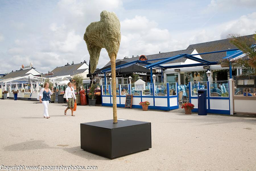 Modern art on display Kijkduin, Scheveningen, Holland,