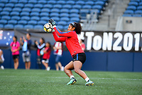 Seattle, WA - Thursday July 27, 2017: Abby Smith during a 2017 Tournament of Nations match between the women's national teams of the United States (USA) and Australia (AUS) at CenturyLink Field.