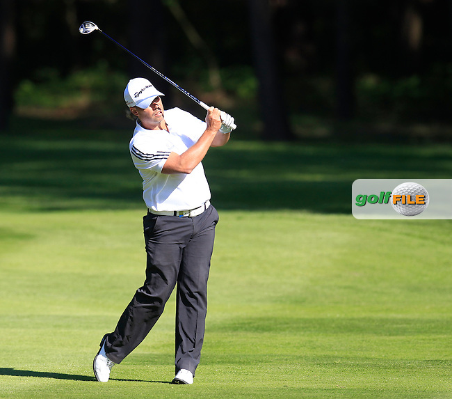 Mikael LUNDBERG (SWE) during round 1 of the 2015 BMW PGA Championship over the West Course at Wentworth, Virgina Water, London. 21/05/2015<br /> Picture Fran Caffrey, www.golffile.ie: