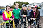 Claire O'Sullivan, Alanna O'sullivan, Juliet Sheahan, Aisling Murphy and Jade O'Connor who cycled in the Two Lakes Cycle in Killorglin on Saturday