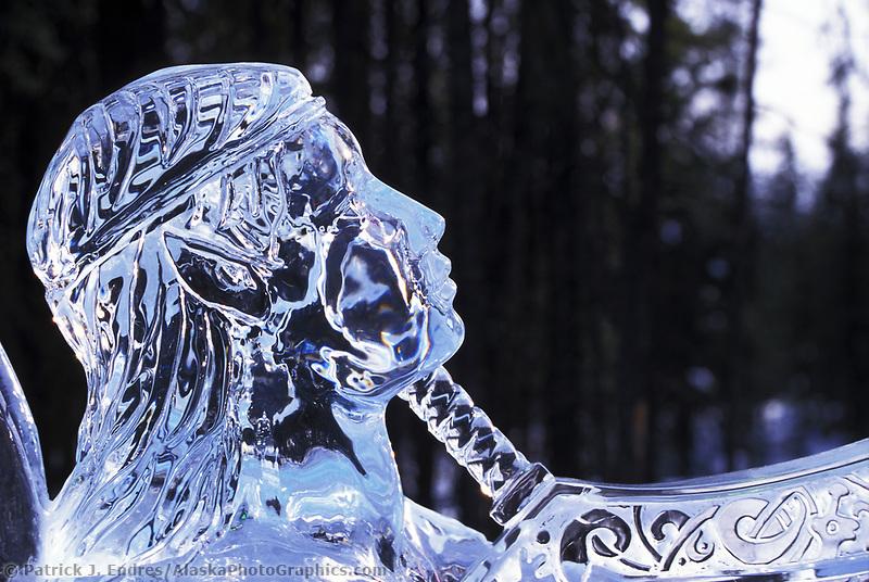 Feast of Plenty ice sculpture by Steve Brice, World Ice Sculpting competition, Fairbanks, Alaska.