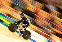 Picture by Alex Broadway/SWpix.com - 02/03/2018 - Cycling - 2018 UCI Track Cycling World Championships, Day 3 - Omnisport, Apeldoorn, Netherlands - Ethan Mitchell of New Zealand competes in the Men's Sprint Qualifying.