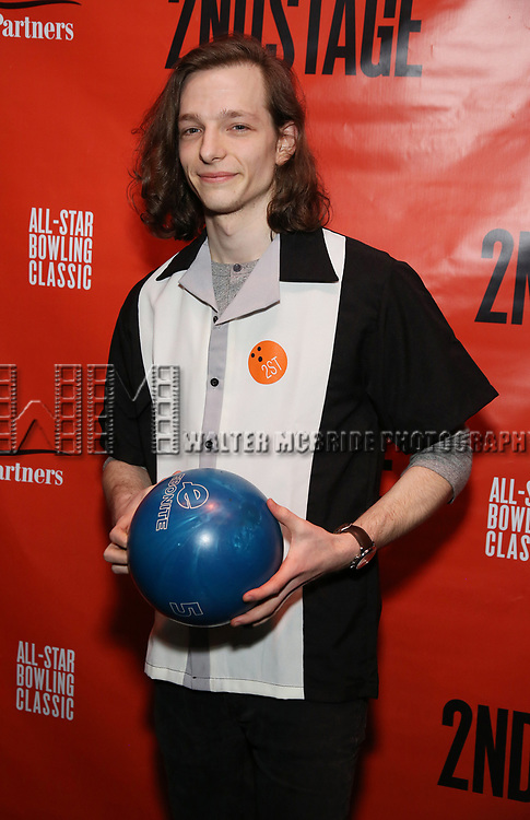 Mike Faist attends the Second Stage Theatre 2018 Bowling Classic at Lucky Strike  on February 12, 2018 in New York City.