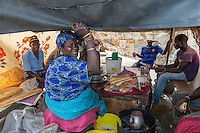 Senegal, Saint Louis.  Lunch Stand for Travelers at Bus and Taxi Station.