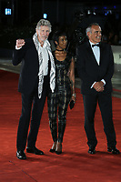 "VENICE, ITALY - September 06: (L-R) Roger Waters, a guest and Alberto Barbera attend ""Roger Waters Us + Them"" Red Carpet during the 76th Venice Film Festival  on September 06 , 2019 in Venice, Italy. (Photo by Mark Cape/Insidefoto)<br /> Venezia 06/09/2019"