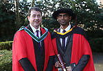20/1/2015   (with compliments)  Attending the University of limerick conferrings on Monday morning was PHD student Anil Babu Yarlagadda from dairygold, Mitchelstown, Co. Cork with his supervisor Dr Kieran Kilkawley.<br /> Picture Liam Burke/Press 22