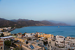 The village of Paleochora on the southern coast of Crete, Greece, Europe