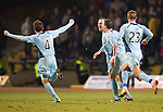 Dundee v St Johnstone.....27.02.13      SPL.Dave Mackay celebrates his goal.Picture by Graeme Hart..Copyright Perthshire Picture Agency.Tel: 01738 623350  Mobile: 07990 594431