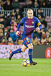Andres Iniesta of FC Barcelona in action during the La Liga 2017-18 match between FC Barcelona and Deportivo La Coruna at Camp Nou Stadium on 17 December 2017 in Barcelona, Spain. Photo by Vicens Gimenez / Power Sport Images