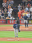 Hisashi Iwakuma (Mariners),<br /> APRIL 4, 2017 - MLB :<br /> Seattle Mariners starting pitcher Hisashi Iwakuma reacts after giving up a home run in the sixth inning during the Major League Baseball game at Minute Maid Park in Houston, Texas, United States. (Photo by AFLO)