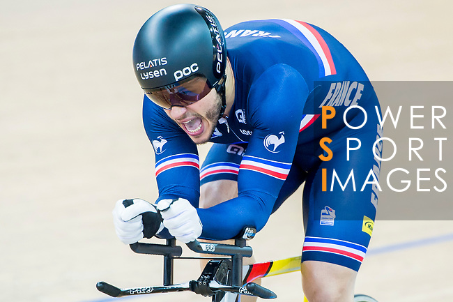 Quentin Lafargue of France competes in the Men's Kilometre TT Final during the 2017 UCI Track Cycling World Championships on 16 April 2017, in Hong Kong Velodrome, Hong Kong, China. Photo by Marcio Rodrigo Machado / Power Sport Images