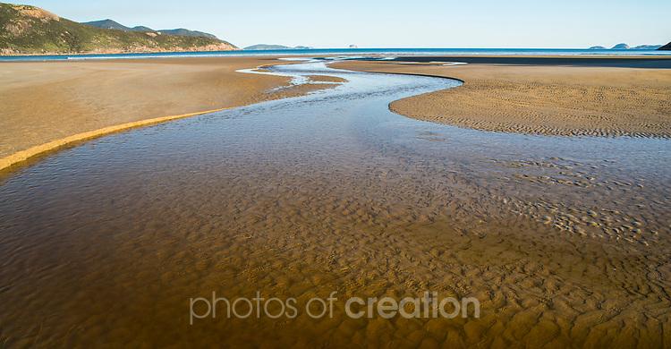 Tidal River meets the sea.