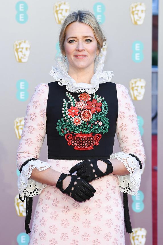 Edith Bowman<br /> arriving for the BAFTA Film Awards 2019 at the Royal Albert Hall, London<br /> <br /> ©Ash Knotek  D3478  10/02/2019