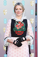 Edith Bowman<br /> arriving for the BAFTA Film Awards 2019 at the Royal Albert Hall, London<br /> <br /> ©Ash Knotek  D3478  10/02/2019