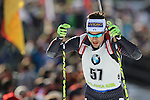 09/12/2016, Pokljuka - IBU Biathlon World Cup.<br /> Thomas Bormolini competes at the sprint race in Pokljuka, Slovenia on 09/12/2016. French Martin Fourcade ended first and keeps it's yellow jersey.