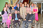 Fr Donal Looney, originally Park Road, Killarney, now working Sacramento, California, right, pictured with Fr Tom Looney, Emma Looney O'Donoghue, Chloe Looney, Jacqueline and Michael Ryan, Sheila and James Looney, Mary O'Sullivan, Sinead Ni?Shuilleabhain, Sean and Sandra Brosnan, Sharon Looney, Patricia Looney and Alison Looney as he celebrated the 40th anniversary of his ordination in the Dromhall Hotel, Killarney on Friday night.