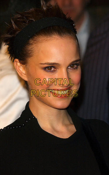"NATALIE PORTMAN.""V For Vendetta"" UK film premiere, Empire Leicester Square, London, UK.March 8th, 2006                              .Ref: BEL.headshot portrait alice band headband.www.capitalpictures.com.sales@capitalpictures.com.© Capital Pictures."