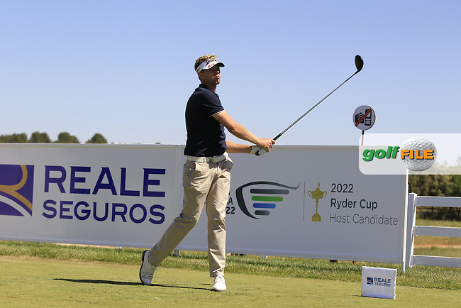 Ben Evens (ENG) on the 1st tee during Round 2 of the Open de Espana  in Club de Golf el Prat, Barcelona on Friday 15th May 2015.<br /> Picture:  Thos Caffrey / www.golffile.ie