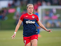 Boyds, MD - April 16, 2016: Washington Spirit midfielder Christine Nairn (7). The Washington Spirit defeated the Boston Breakers 1-0 during their National Women's Soccer League (NWSL) match at the Maryland SoccerPlex.