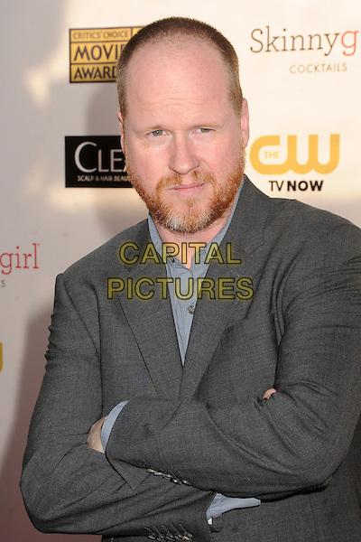 Joss Whedon.18th Annual Critics' Choice Movie Awards - Arrivals held at Barker Hangar, Santa Monica, California, USA, .10th January 2013 .half length grey gray shirt beard facial hair shirt arms crossed folded .CAP/ADM/BP.©Byron Purvis/AdMedia/Capital Pictures.