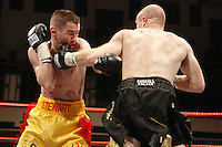 Jon Thaxton beats Dave Stewart after the referee stopped the contest in the 12th round - British Lightweight Title - Boxing at York Hall, Bethnal Green promoted by Hennessy Sports - 05/10/07 - MANDATORY CREDIT: chris royle