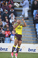 Jamayne Isaako.<br /> NRL Premiership Rugby League. Vodafone Warriors v Brisbane Broncos. Mt Smart Stadium. 14th April 2018. Copyright Photo: Jeremy Ward / www.photosport.nz /SWpix.com
