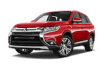 Stock pictures of low aggressive front three quarter view of 2017 Mitsubishi Outlander GT 5 Door SUV Low Aggressive