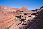 Utah, Escalante Canyon, Escalante River, Southwest USA, Bureau of Land Management, (BLM), Canyons of the Escalante Resource Area, Red rock formations, hiker in solitude, Maggie Coon, released,.