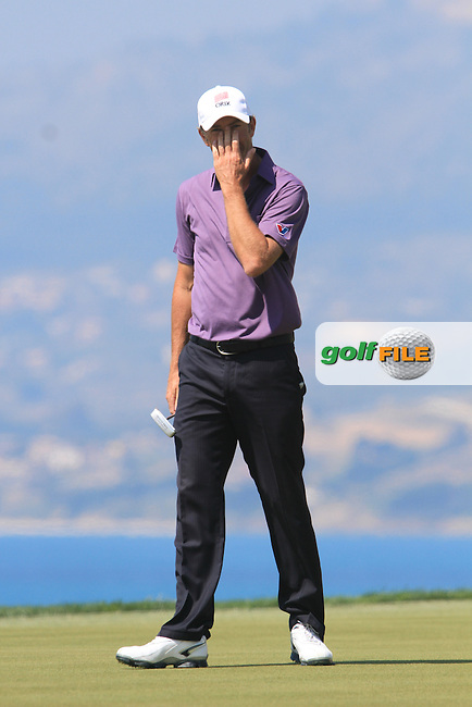 Richard Green (AUS) on the 9th tee on Day 4 of the 2012 Sicilian Open at Verdura Golf and Spa Resort, Sicily, Italy...(Photo Jenny Matthews/www.golffile.ie)