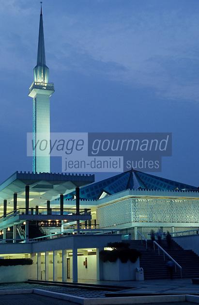 Asie/Malaisie/Kuala Lumpur: La mosquée du sultan Azis Shah Allam - Vue de nuit