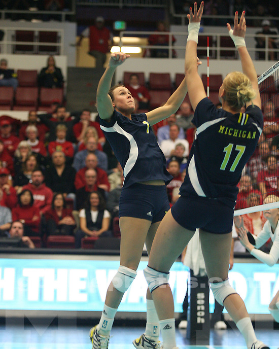 University of Michigan volleyball in NCAA play at Stanford, Maples Pavillion, on 12/11/09