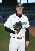 Jay Voss of the Jamestown Jammers, Class-A affiliate of the Florida Marlins, during New York-Penn League baseball action.  Photo by Mike Janes/Four Seam Images