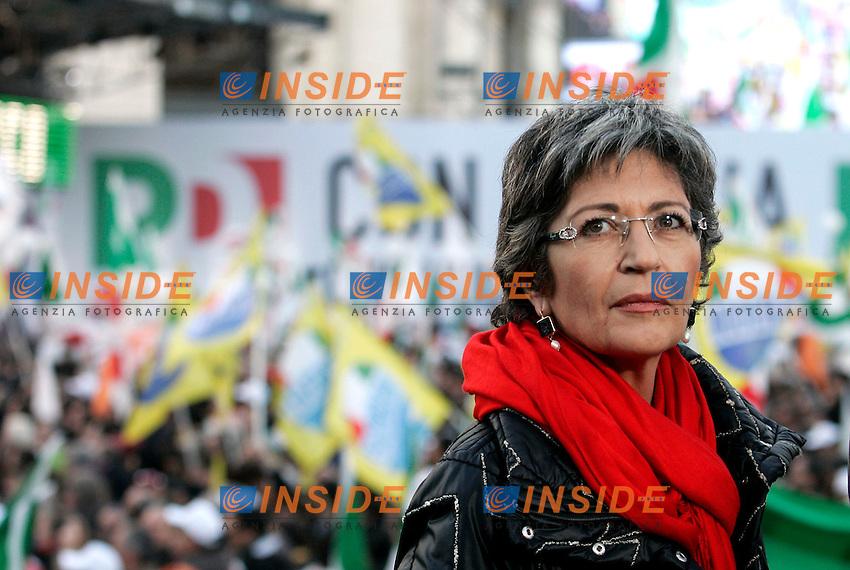 """Anna Finocchiaro.Manifestazione nazionale del Partito Democratico - """"Con l'Italia che Vuole Cambiare"""".Roma, 11 Dicembre 2010.Foto Samantha Zucchi Insidefoto....."""