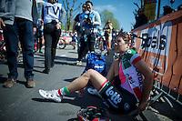 Elena Cecchini (ITA/Lotto-Soudal) post-race<br /> <br /> Fl&egrave;che Wallonne F&eacute;minine 2015