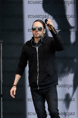30 SECONDS TO MARS - vocalist  Jared Leto - performing live on the Main Stage at the BBC Radio 1 Big Weekend held at Ebrington Square Londonderry Northern Ireland UK - 26 May 2013.  Photo credit: George Chin/IconicPix