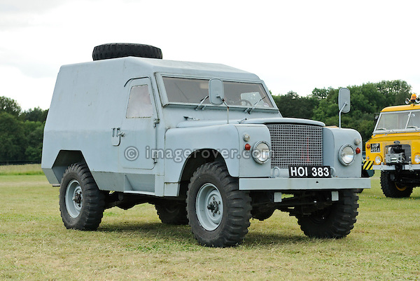 Armoured Land Rover. Dunsfold Collection Open Day 2009. NO RELEASES AVAILABLE.