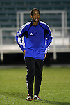 27 March 2004: Wizards backup goalkeeper Bo Oshoniyi during pregame warmups. Los Angeles Galaxy defeated the Kansas City Wizards 1-0 at SAS Stadium in Cary, NC in the final preseason game for both Major League Soccer teams as part of the Cary Pro Kickoff Invitational tournament..
