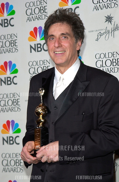 Actor AL PACINO at the 2001 Golden Globe Awards at the Beverly Hilton Hotel..21JAN2001.  © Paul Smith/Featureflash