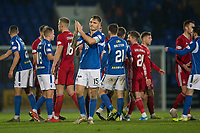 24th November 2019; McDairmid Park, Perth, Perth and Kinross, Scotland; Scottish Premiership Football, St Johnstone versus Aberdeen; Jason Kerr of St Johnstone applauds the fans at the end of the match - Editorial Use