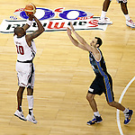 USA's Kobe Bryant (l) and Argentina's Emanuel Ginobili during friendly match.July 22,2012. (ALTERPHOTOS/Acero)