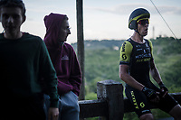 Jack Bauer (NZL/Mitchelton-Scott) after finishing up the (very steep) San Luca climb<br /> <br /> Stage 1 (ITT): Bologna to Bologna/San Luca (8.2km)<br /> 102nd Giro d'Italia 2019<br /> <br /> ©kramon