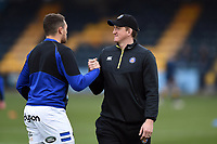 Zach Mercer and Stuart Hooper of Bath Rugby during the pre-match warm-up. Gallagher Premiership match, between Worcester Warriors and Bath Rugby on January 5, 2019 at Sixways Stadium in Worcester, England. Photo by: Patrick Khachfe / Onside Images