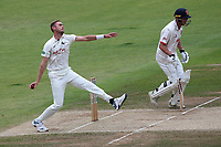 Stuart Broad in bowling action for Nottinghamshire during Nottinghamshire CCC vs Essex CCC, Specsavers County Championship Division 1 Cricket at Trent Bridge on 1st July 2019