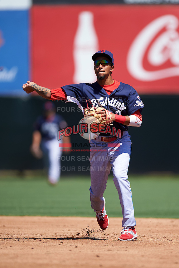 Reading Fightin Phils shortstop J.P. Crawford (2) throws to first during a game against the Bowie Baysox on July 22, 2015 at Prince George's Stadium in Bowie, Maryland.  Bowie defeated Reading 6-4.  (Mike Janes/Four Seam Images)