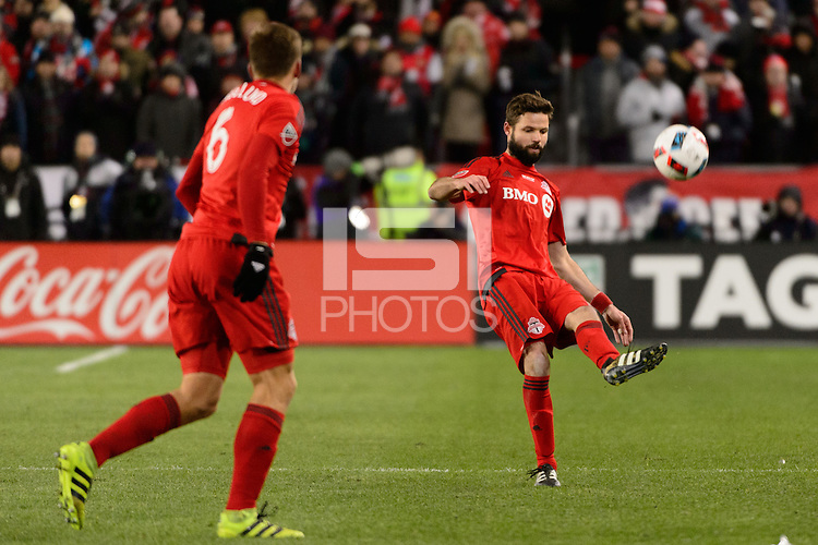 Toronto, ON, Canada - Saturday Dec. 10, 2016: Drew Moor during the MLS Cup finals at BMO Field. The Seattle Sounders FC defeated Toronto FC on penalty kicks after playing a scoreless game.
