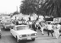 Farm workers march, Laredo, TX, 1967