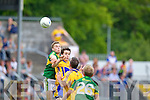 Peter Crowley, Kerry in action against  , Clare in the Munster Senior Championship Semi Final in Cusack Park, Ennis on Sunday.