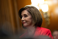 Speaker of the United States House of Representatives Nancy Pelosi (Democrat of California), joined by other Democratic lawmakers, attends a press conference on the Deferred Action for Childhood Arrivals program on Capitol Hill in Washington D.C., U.S. on Tuesday, November 12, 2019.  The Supreme Court is currently hearing a case that will determine the legality and future of the DACA program.  <br /> <br /> Credit: Stefani Reynolds / CNP /MediaPunch